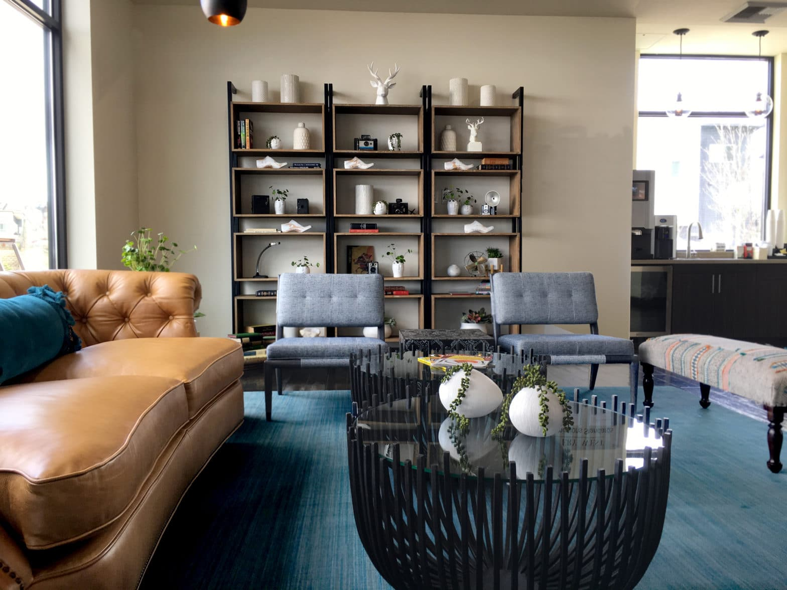 Living Room design with eclectic accessories