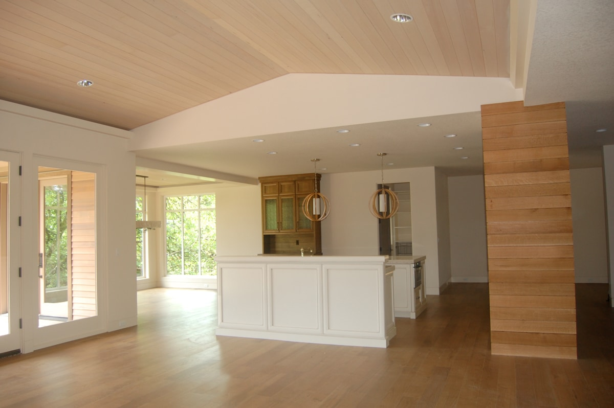 Beautiful soft wood ceiling interior