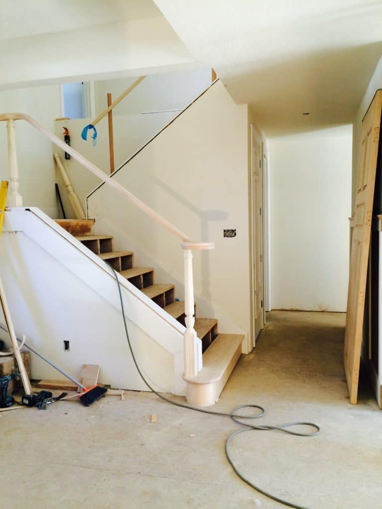 interior remodel of stair case