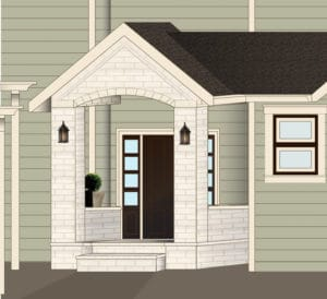 digital rendering of front porch design