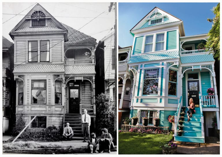vintage before and after victorian home remodel