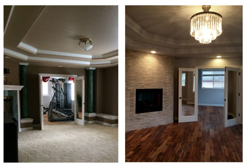before and after master bedroom remodel