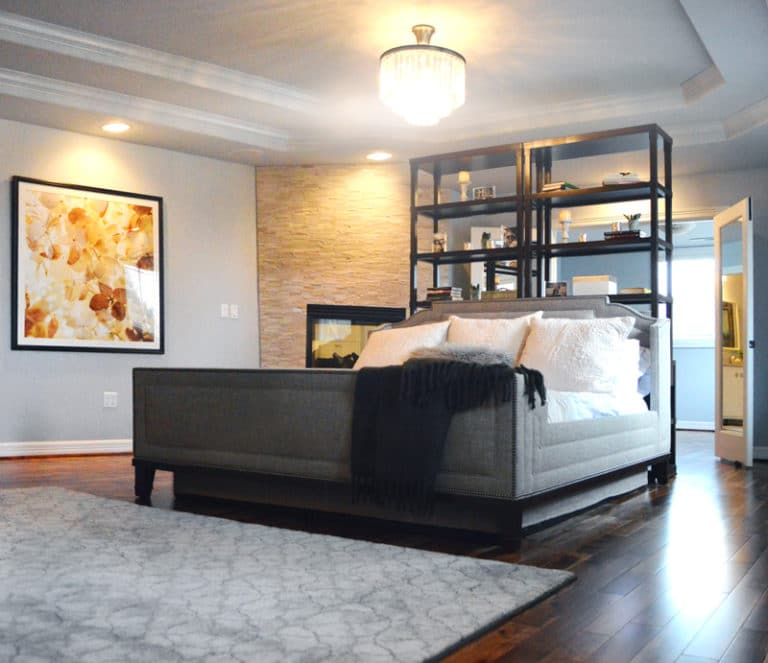 stylish contemporary master bedroom in vancouver
