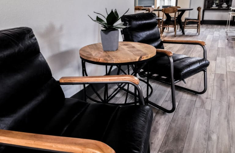 custom furniture design black leather chairs