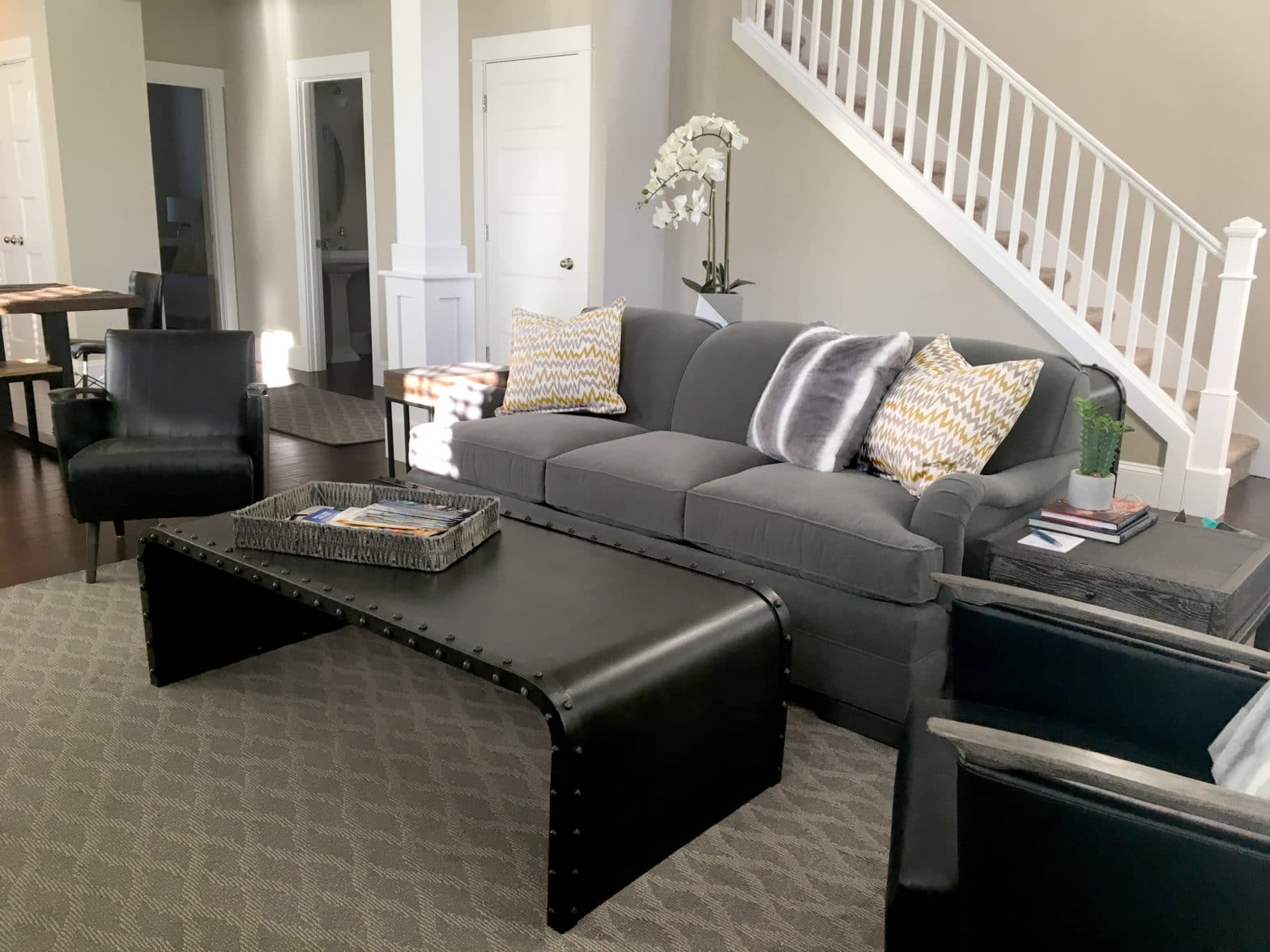 Living Room design in vacation home In st. johns