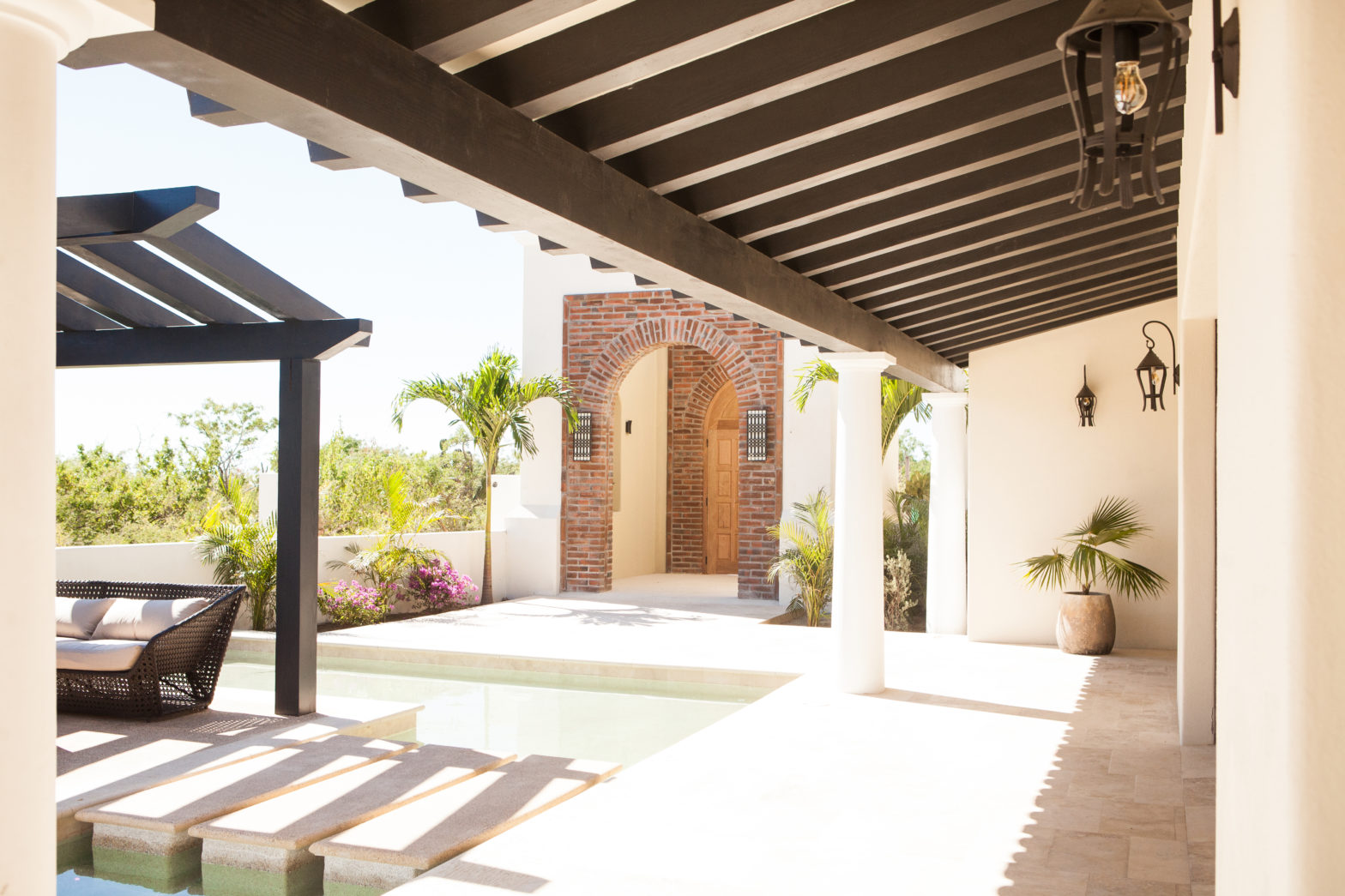 Beautiful Poolside Patio in Mexico