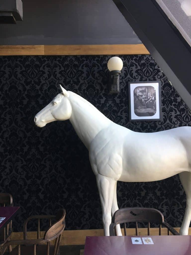 white horse lifesize decor item