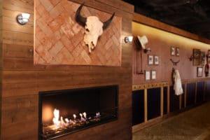 western decor interior design with cow skull