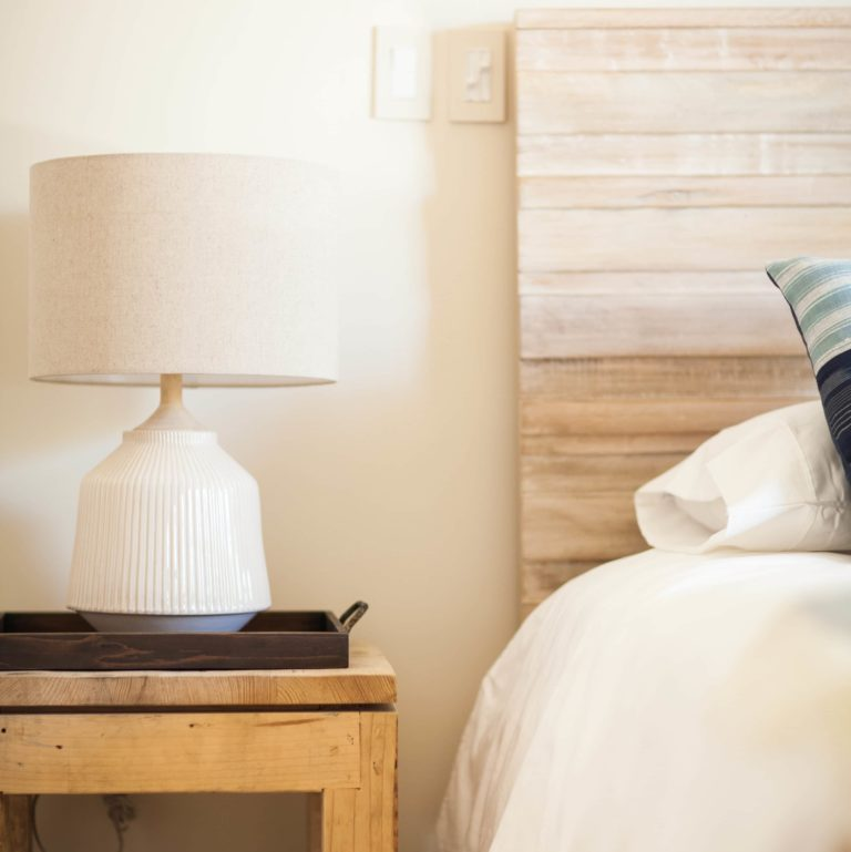 custom furniture white lamp bedside table