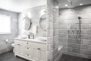 custom tile bathroom remodel in portland oregon