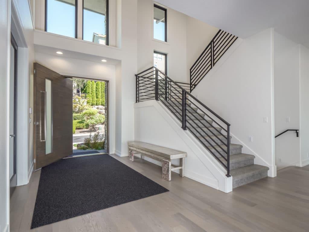 modern style pivot door in portland remodel home