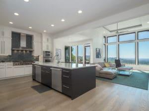 modern kitchen design with black cabinets kitchen island