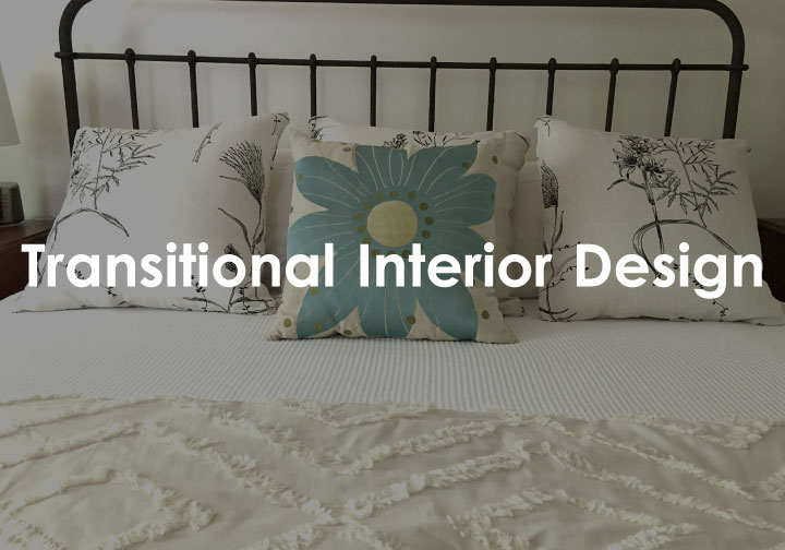 transitional headboard and pillows
