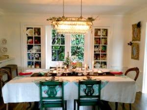 christmas holiday table spread