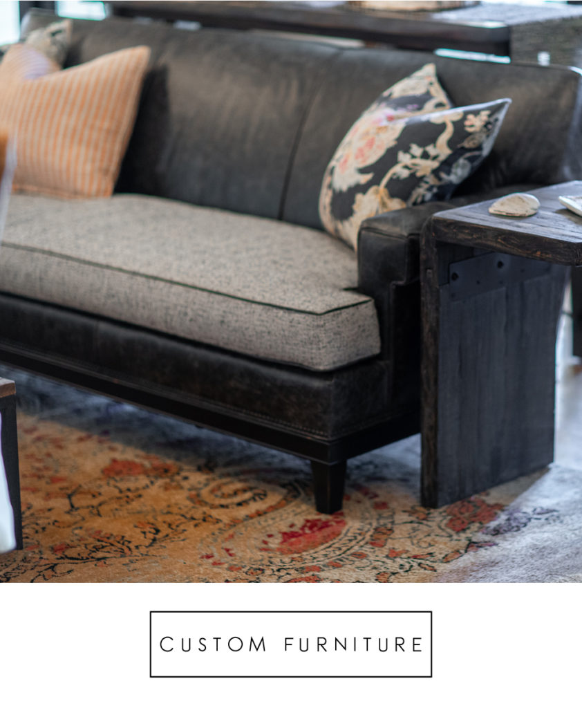 custom black and gray sofa design