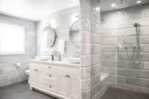 custom tile bathroom remodel in portland, oregon