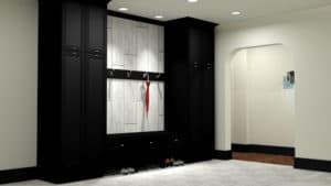 Digital Rendering of Black and White Custom Cabinetry