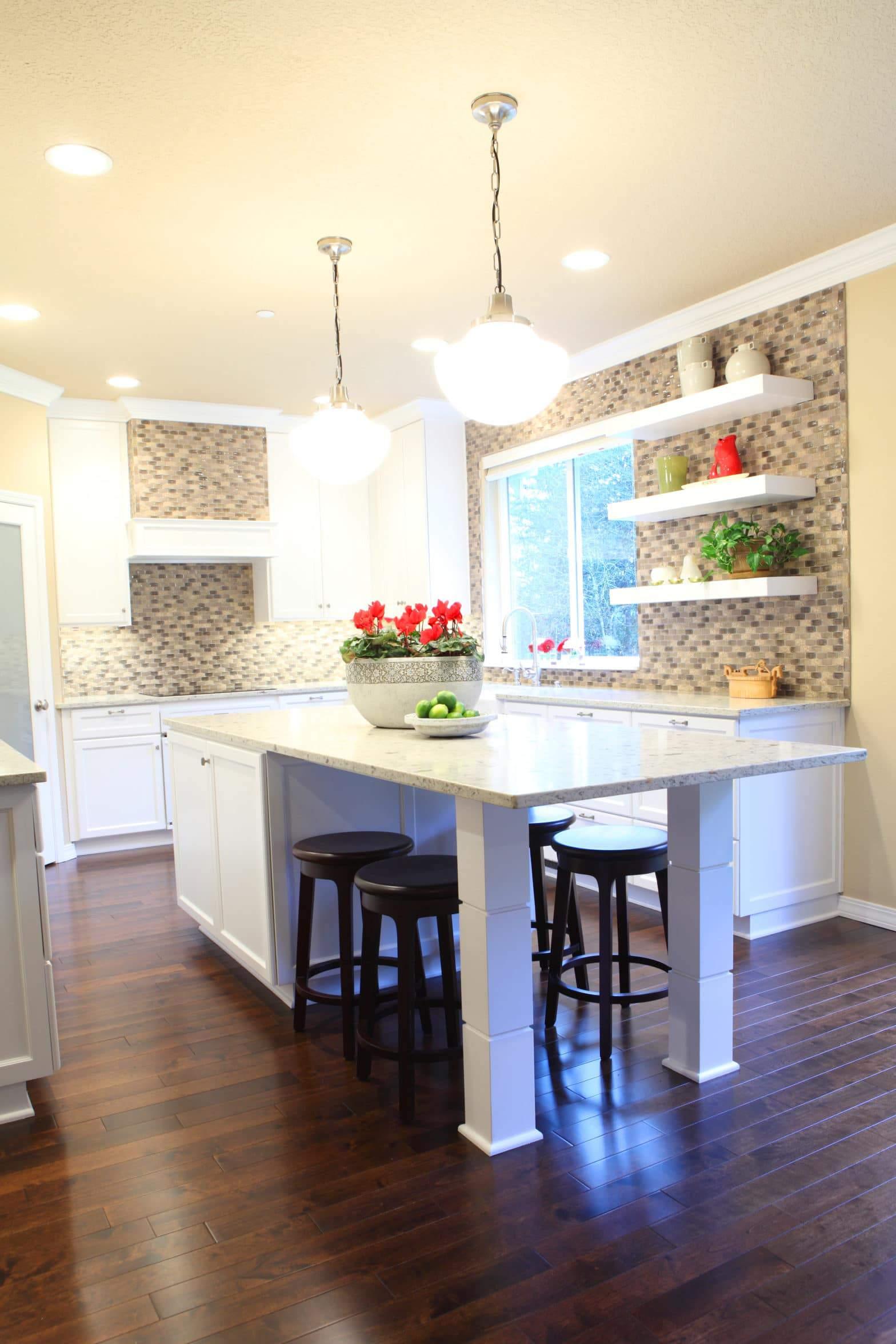 custom kitchen remodel with farm sink