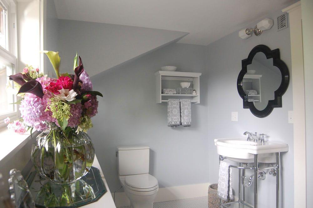 Soft Grey Upstairs Bathroom Remodel