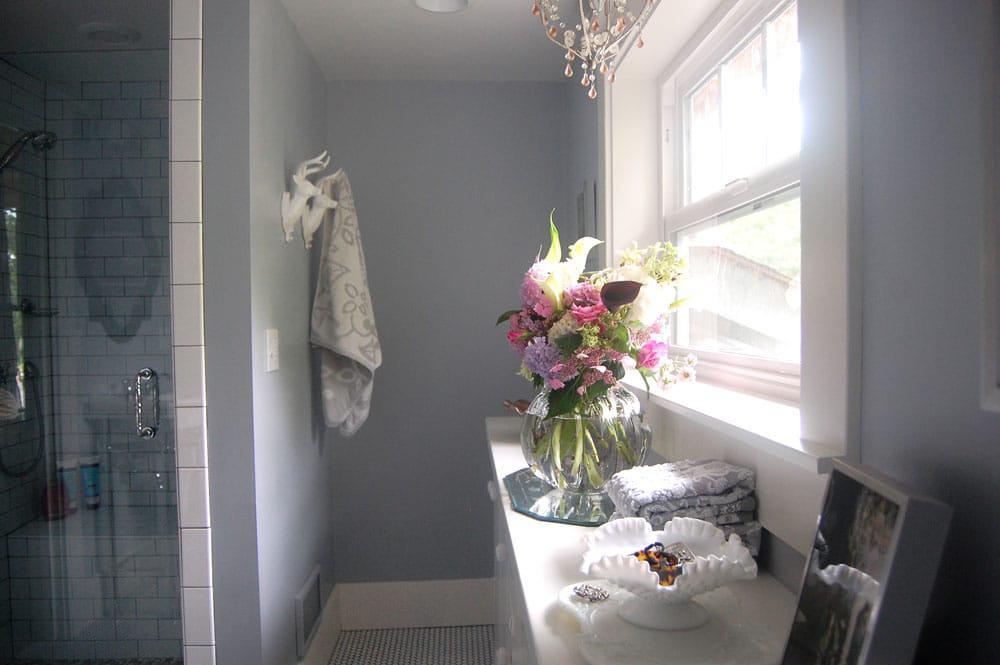 Whimsical Grey Bathroom Design