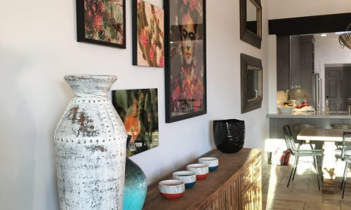 Gallery Wall and Accessories In Southwest Home Remodel