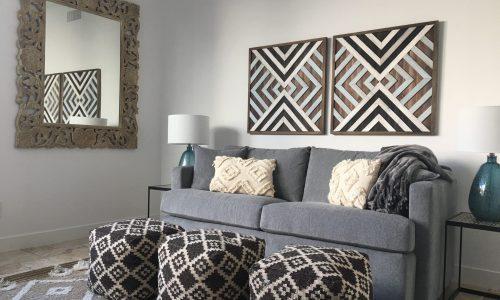 Custom Furniture and Poufs In Arizona Living Room